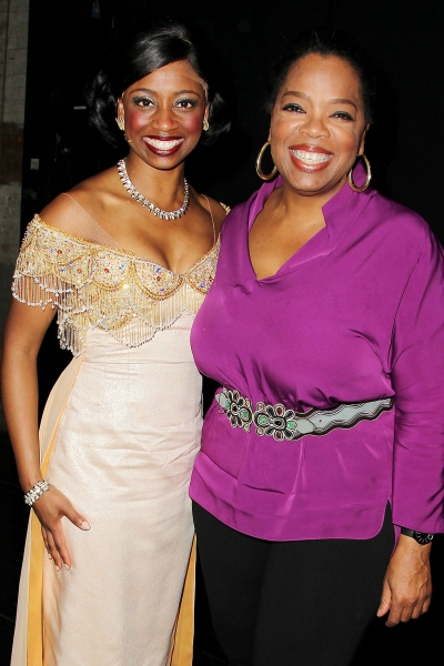 Montego Glover, Oprah Winfrey at Oprah Winfrey and South African School Kids Visit MEMPHIS!