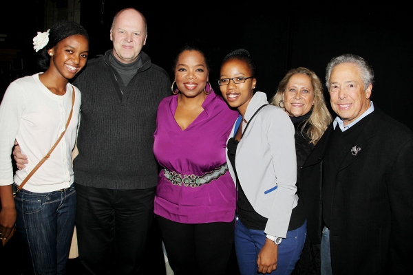 Sade, Randy Adams, Oprah Winfrey, Noxolo, Marleen and Kenny Alhadeff