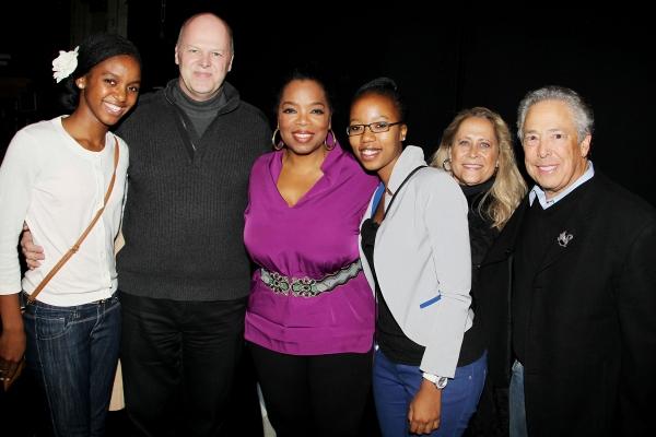 Sade, Randy Adams, Oprah Winfrey, Noxolo, Marleen and Kenny Alhadeff