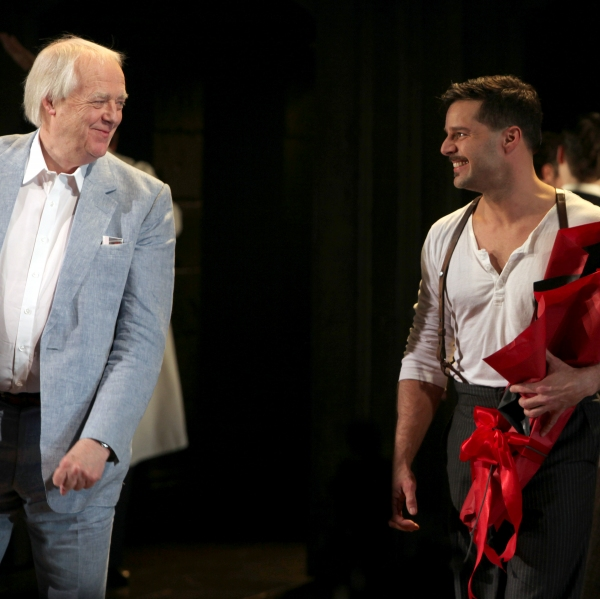 Tim Rice & Ricky Martin  at EVITA Opening Night Bows Ricky Martin, Elena Roger, Michael Cerveris and More!