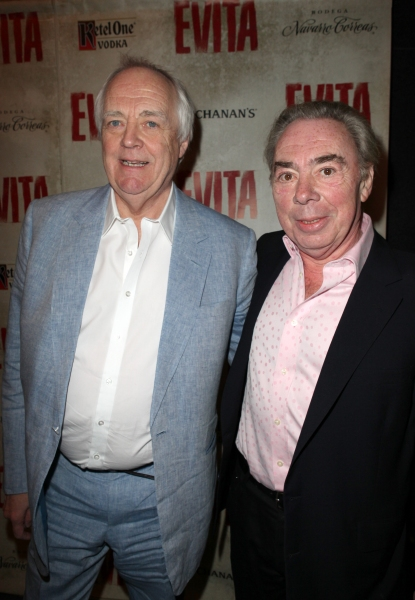 Tim Rice & Andrew Lloyd webber at EVITA's Starry Opening Night Arrivals!