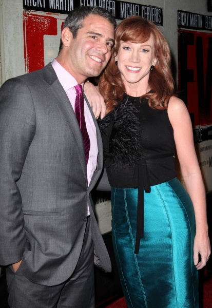 Andy Cohen & Kathy Griffin at EVITA's Starry Opening Night Arrivals!