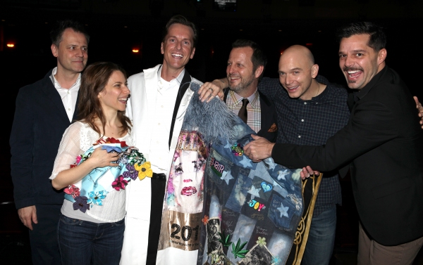 FREEZE FRAME: Matt Wall Dons Gypsy Robe at EVITA Premiere