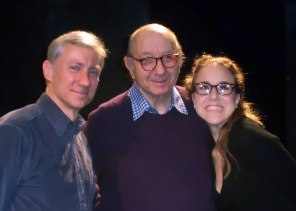 David Garrison, Neil Simon, Jenn Harris at Neil Simon Visits SILENCE! THE MUSICAL