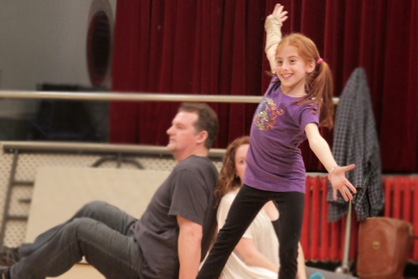 Julianna Rigoglioso (Pippi), Kenneth Heaton (Thunder) and Kimberly Jackson (Asst. Choreographer)