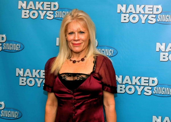 Ilene Kristen at NAKED BOYS SINGING! Opens at Theatre Row's Kirk Theatre!