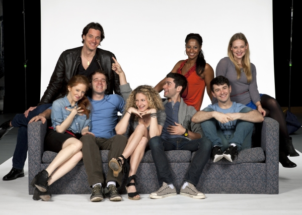 (Front row, from left) Kate Morgan Chadwick, Kelsey Kurz, Lauren Molina, Adam Kantor and Alex Brightman; (back row, from left) Heath Calvert, Nicole Lewis and Jenni Barber