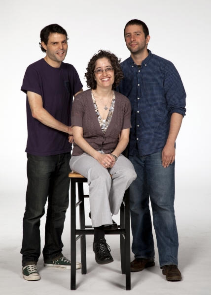 Nobody Loves You director Michelle Tattenbaum with (left) composer/lyricist Gaby Alter and (right) playwright/lyricist Itamar Moses.  The World Premiere of Nobody Loves You runs May 9 - June 17, 2012 at The Old Globe.  Photo by Henry DiRocco.