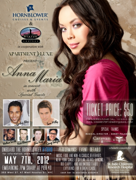 Anna Maria Perez de Tagle Holds Benefit Concert On Board Cruise Ship, 5/7