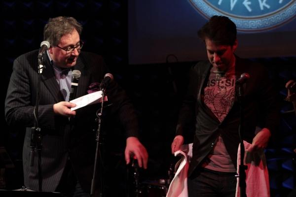 Douglas Carter Beane, Lewis Flinn at Photo Coverage Exclusive: LYSISTRATA JONES Cast Sings Album Release Concert at Joe's Pub!