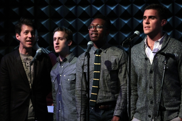 Lewis Flinn, Ato Bankson-Wood, Alex Wyse, Josh Segarra at Photo Coverage Exclusive: LYSISTRATA JONES Cast Sings Album Release Concert at Joe's Pub!