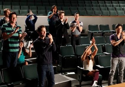 Cory Monteith, Chord Overstreet, Lea Michele, Kevin McHale, Matthew Morrison, Amber Riley, Chris Colfer, Darren Criss, Jenna Ushkowitz & Harry Shum Jr.