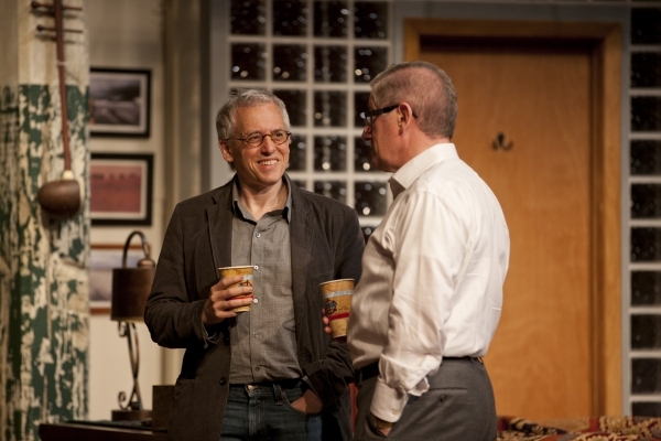 Playwright Donald Margulies talks with Joe Dowling during rehearsals for Time Stands Still at Guthrie Theater Welcomes TIME STANDS STILL Playwright Donald Margulies