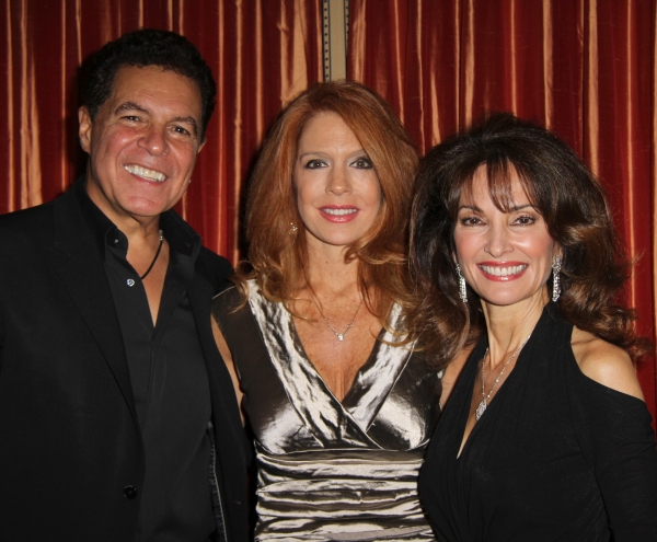 Clint Holmes, Kelly Clinton, Susan Lucci at Clint Holmes Cabaret Opening Night