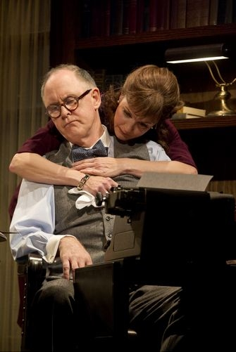 John Lithgow, Margaret Colin at First Look at THE COLUMNIST- Production Shots!