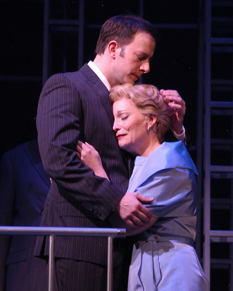 Tally Sessions as Anatoly and Megan Van De Hey as Svetlana at BWW Reviews:  Arvada Center's CHESS - Timeless Masterpiece