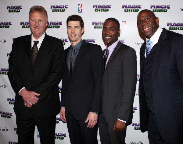 Larry Bird, Tug Coker, Kevin Daniels & Earvin 'Magic' Johnson