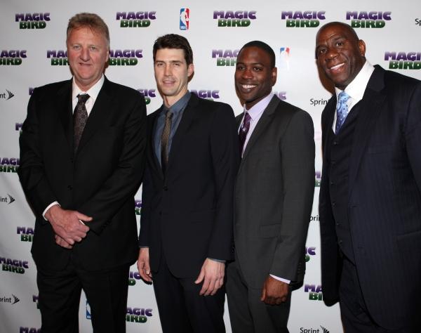 Larry Bird, Tug Coker, Kevin Daniels & Earvin 'Magic' Johnson Photo