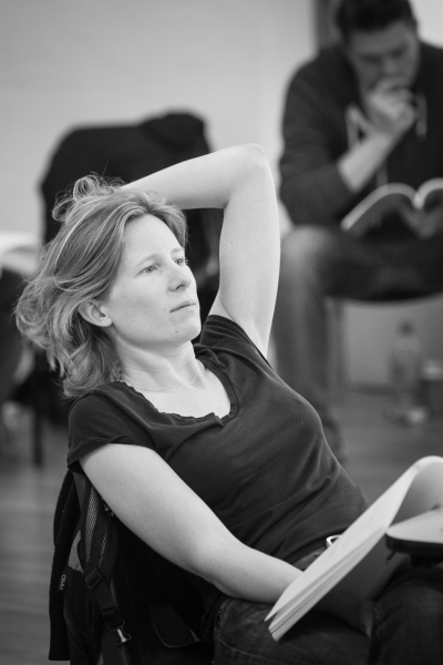 Thea Sharrock at Danny DeVito and Richard Griffiths in Rehearsal for SUNSHINE BOYS
