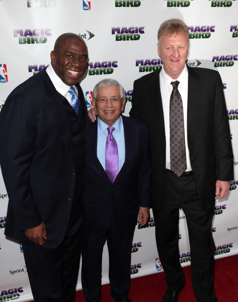 Magic Johnson, David Stern & Larry Bird