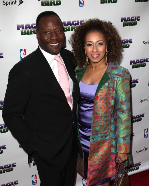 Tamara Tunie & Gregory Generet at MAGIC/BIRD Starry Theatre Arrivals