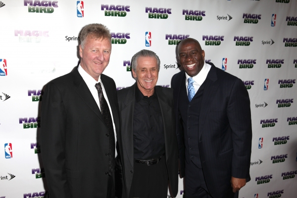 Larry Bird, Pat Riley & Magic Johnson