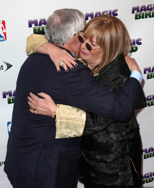 David Stern & Penny Marshall  at MAGIC/BIRD Starry Theatre Arrivals