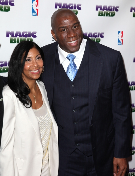 Magic Johnson & wife