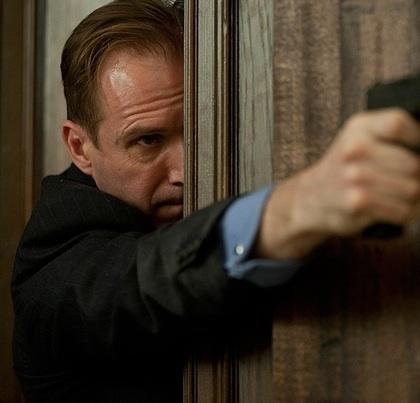 Ralph Fiennes at New Promo Photos for James Bond's SKYFALL