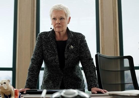 Judi Dench at New Promo Photos for James Bond's SKYFALL