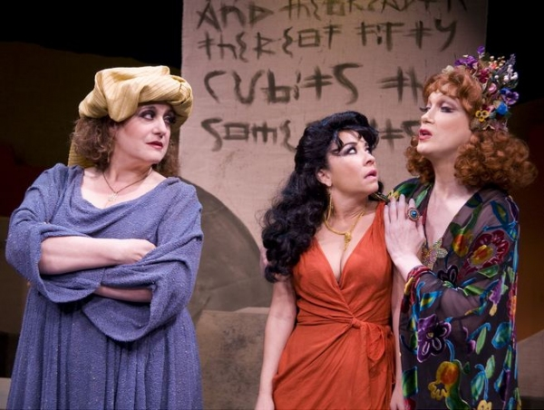 Mary Testa, Jennifer Cody, Charles Busch at Charles Busch in JUDITH OF BETHULIA- Production Shots!