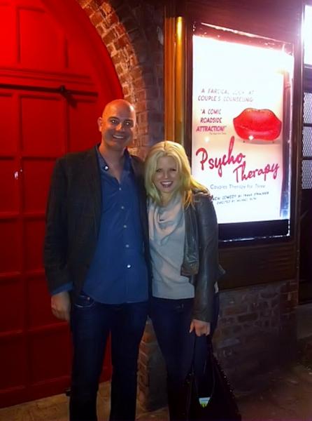Photo Flash: Megan Hilty Visits PSYCHO THERAPY