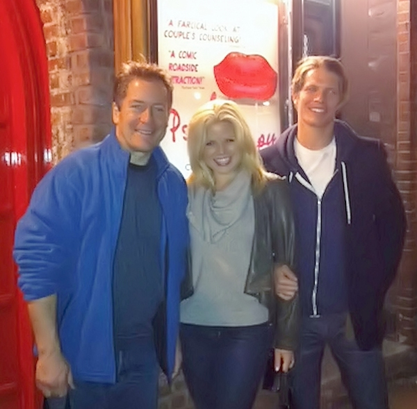 Laurence Lau, Megan Hilty and Alexander Cendese