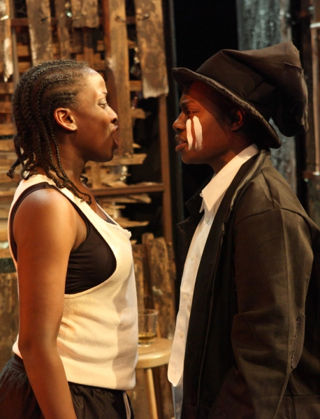 CRYSTAL THOMPSON and ARTISHA MANN (wearing hat) in TOPDOG/UNDERDOG Photo