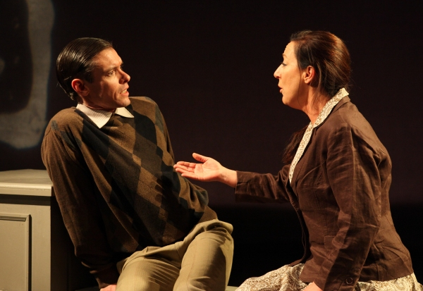 Marianne Vidal and Daniel J. O'Brien in RAISED IN CAPTIVITY
