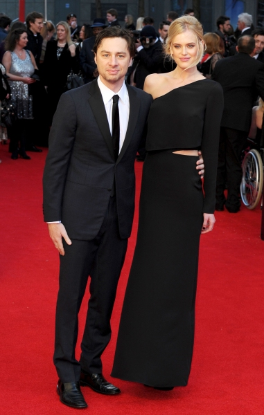 Zach Braff and Taylor Bagley at 2012 Olivier Awards Red Carpet Arrivals!