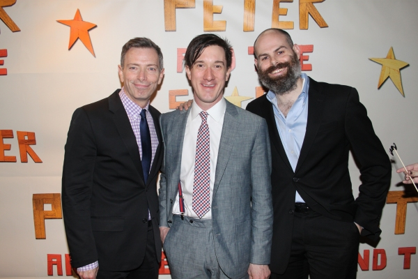 Arnie Burton, Carson Elrod and Matt D'Amico at PETER AND THE STARCATCHER Opening Night Party