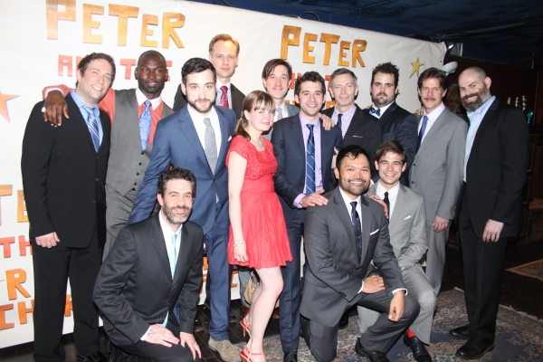 David Rossmer, Isaisah Johnson, John Sanders, Carson Elrod, Arnie Burton, Greg Hildreth, Rick Holmes and Matt D'Amico, Kevin Del Aguila, Teddy Bergman, Besty Hogg, Adam Chanler-Berat, Orville Mendoza and Jason Ralph at PETER AND THE STARCATCHER Opening Night Party