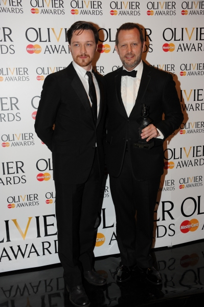 James McAvoy and Rob Ashford at 2012 Olivier Awards; MATILDA Cast and More in the Winners' Room!
