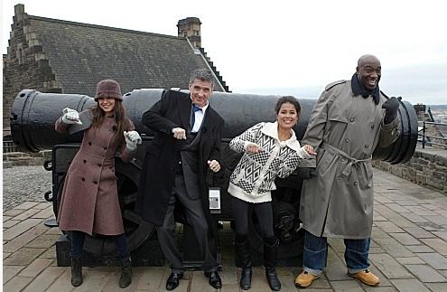 Mila Kunis, Craig Ferguson, Ariel Tweto & Michael Clarke Duncan at First Look - Mila Kunis et al Join CRAIG FERGUSON in Scotland, Beg. 5/14