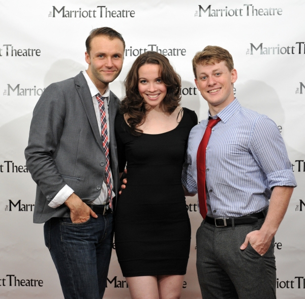 Carl Draper, Patricia Noonan, Liam Quealy at Marriott Theatre's PIRATES OF PENZANCE on Opening Night!