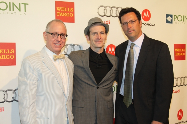 James Schamus, Denis O'Hare and Andrew Karpen at Point Honors New York 2012 Gala