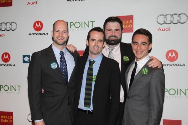 Point Scholars John Downey, Matthew Smith, Derek Blechinger and Diego Arango