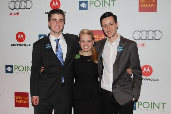 Point Scholars Dayan Erikson, Maggie Keenan-Bolger and Rhys Ernst Photo