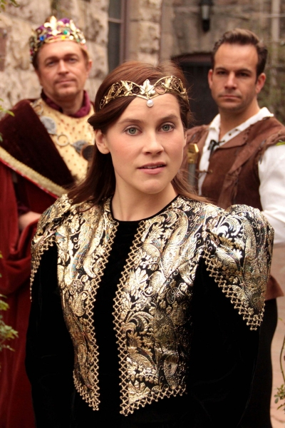 David Ambroson as King Arthur, Rachelle Wood as Guenevere, Travis Risner as Lancelot