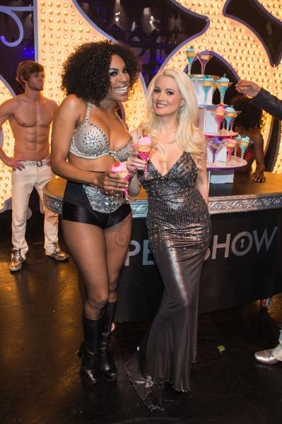Cheazza and Holly Madison pictured at PEEPSHOW Starring Holly Madison 3rd Anniversary at Planet Hollywood in Las Vegas, NV on April 16, 2012. © RD/ Kabik/ Retna Digital ***HOUSE COVERAGE***