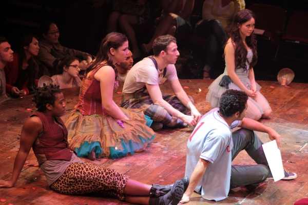 Uzo Aduba, Lindsay Mendez, Nick Blaemire, Anna Maria Perez de Tagle, Corbin Bleu at Corbin Bleu's First Curtain Call in GODSPELL; Plus Cast Party Photos!