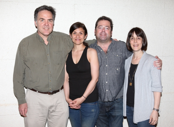 Tim Sanford, Gina Gionfriddo, Peter DuBois and Leslie Marcus  at Meet the Company of RAPTURE, BLISTER, BURN