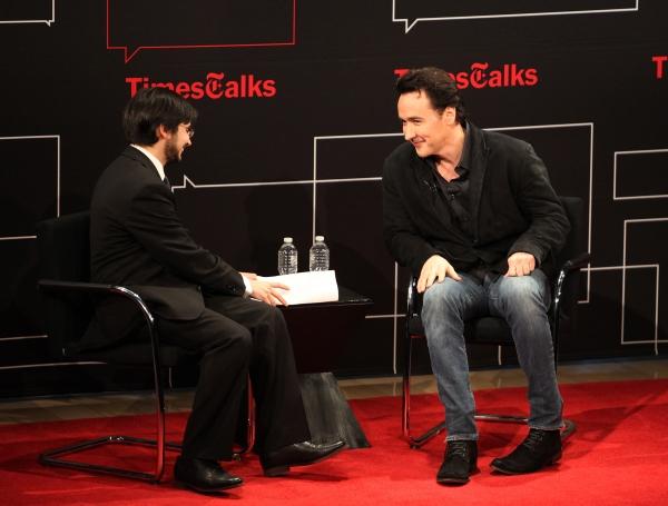 Dave Itzkoff  & John Cusack at John Cusack Visits TimesTalks