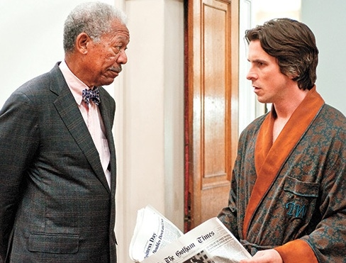 Morgan Freeman & Christian Bale at